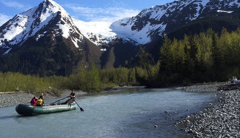 Alaskan Raft Trip Landscape
