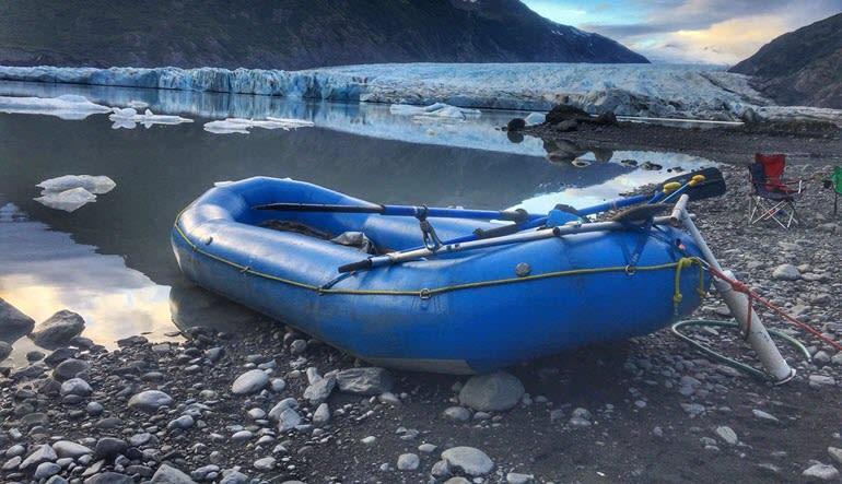 Alaskan Raft Trip Blue Raft