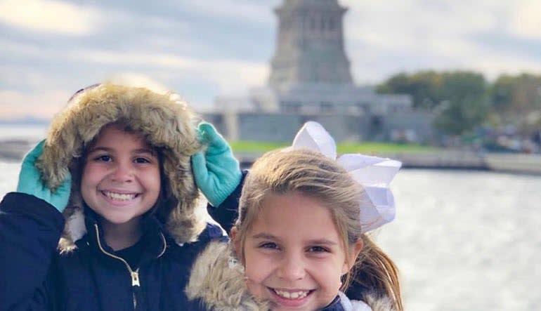 New York City Cruise Little Girls