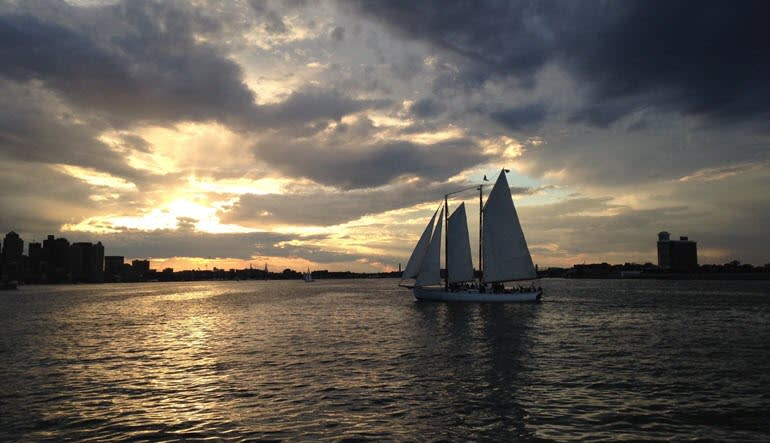 Boston Harbor Saturday Sunset Sail Landscape