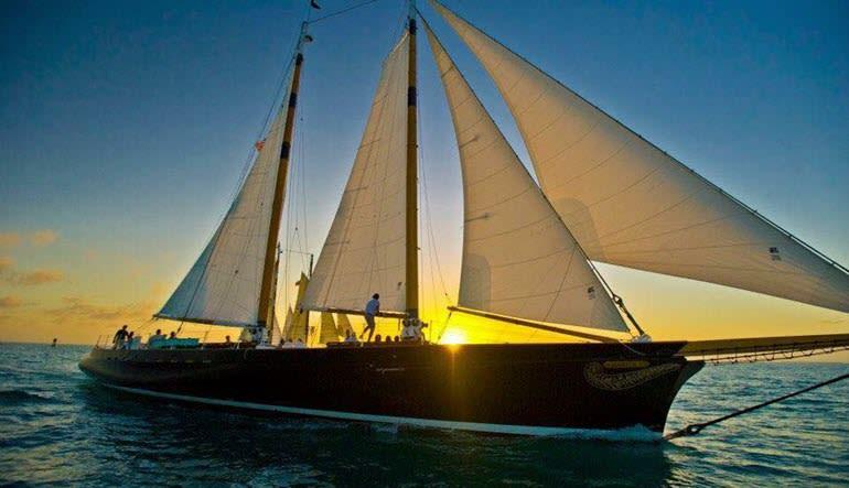 Boston Harbor Day Sail Sunset