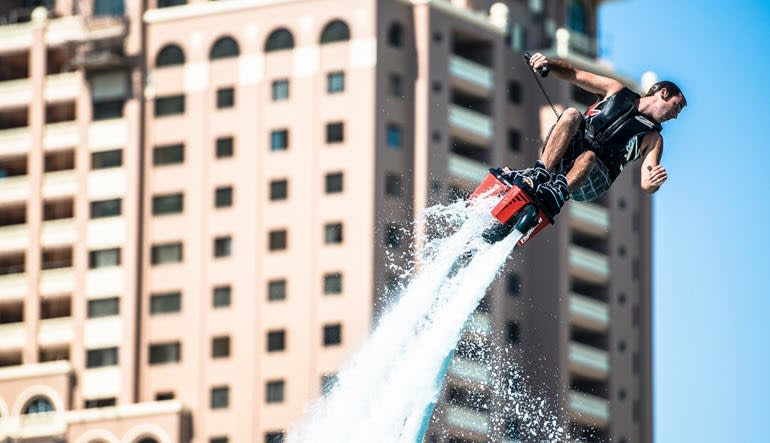 Flyboarding Miami Man