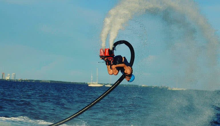 Flyboarding Miami Upside Down