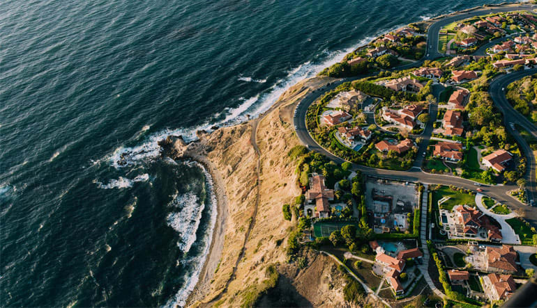 Helicopter Los Angeles Palos Verdes Shoreline