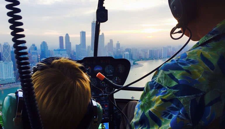 Helicopter Ride Chicago Child