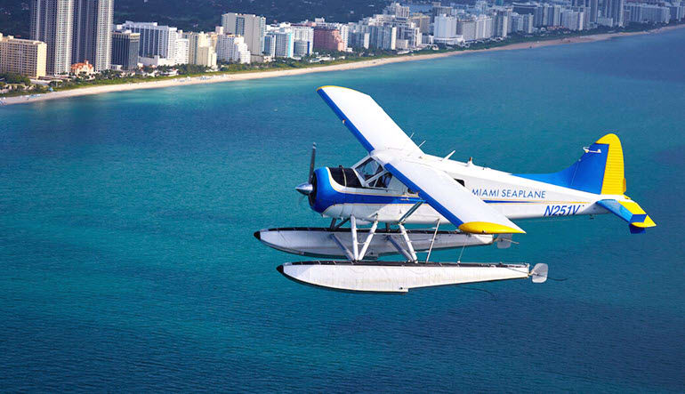 Seaplane Scenic Flight Miami Plane