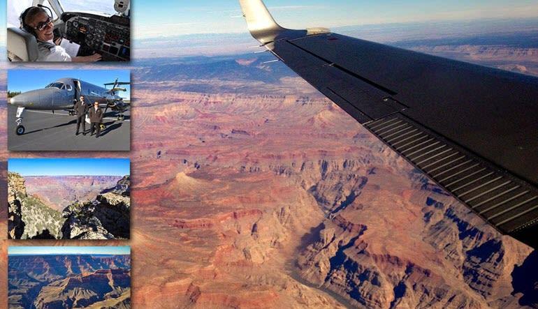 Grand Canyon West Rim Plane Tour Collage