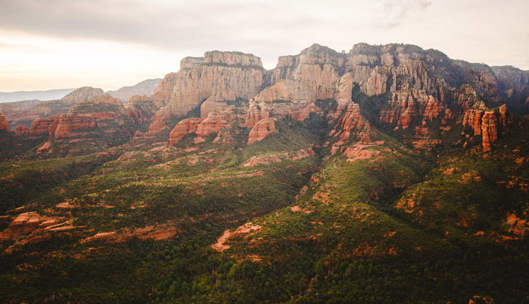 Helicopter Tour Sedona Red Surface
