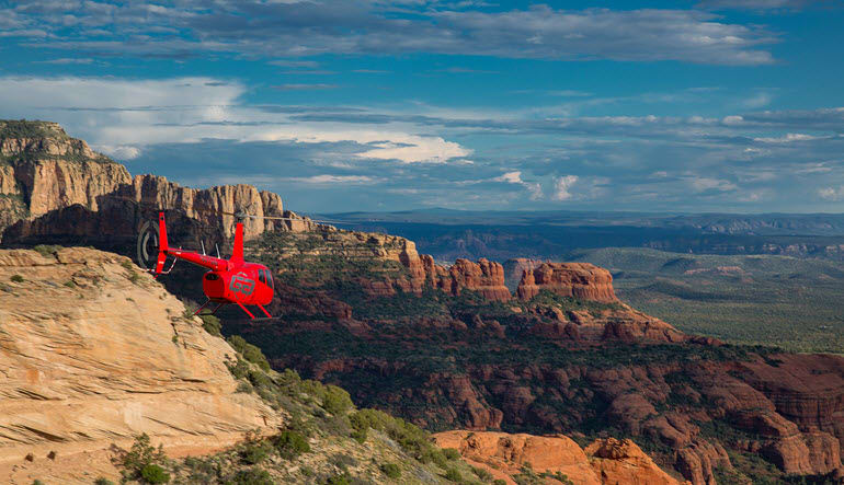 Helicopter Tour Sedona Aircraft & Landscape