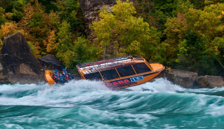 Niagara Jet Boat Ride Action
