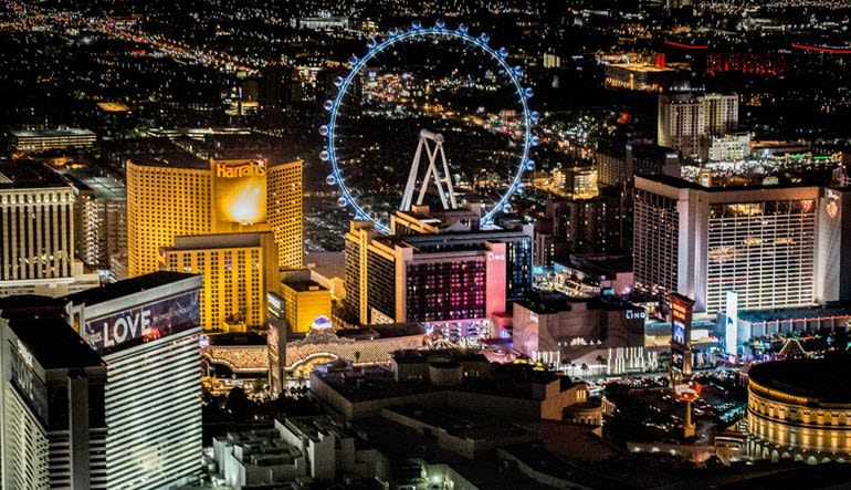 Private Helicopter Ride Las Vegas Night