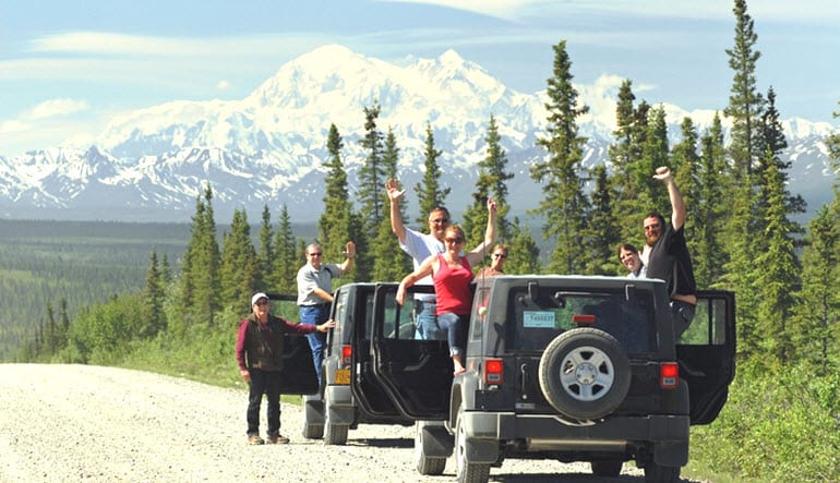 Jeep Tour Denali Waving