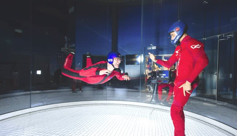 Indoor Sky Diving Dad