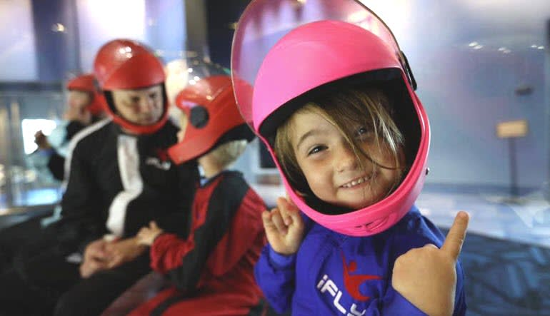Indoor Sky Diving Little Girl