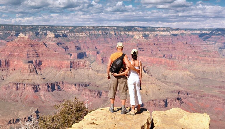 Grand Canyon National Park Luxury Bus Tour Couple