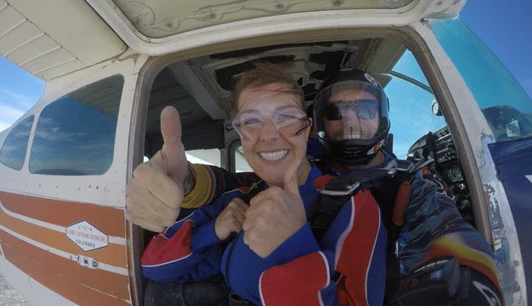 Skydive Grand Junction Colorado Thumbs Up