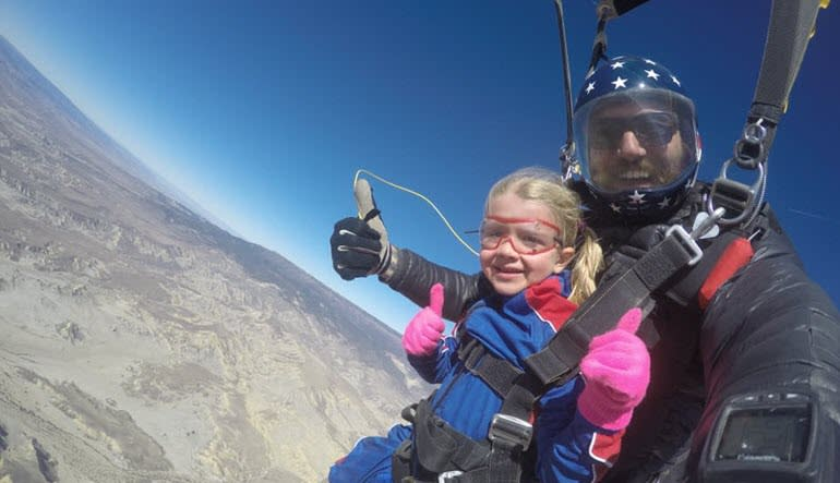 Skydive Grand Junction Colorado Little Girl