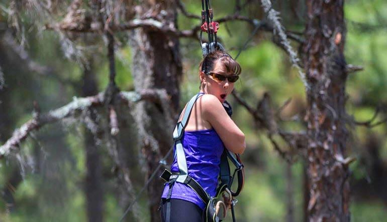 Zipline & Treetop Adventure Course Tampa Lady