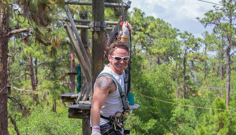 Zipline & Treetop Adventure Course Tampa Tree Boarding