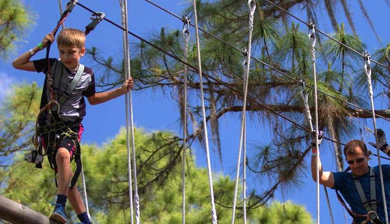 Zipline & Treetop Adventure Course Tampa Wobbly Bridge