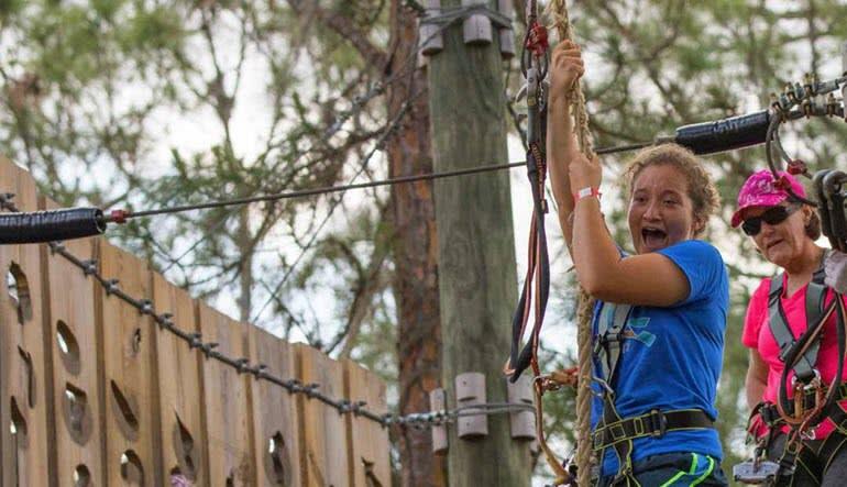 Zipline & Treetop Adventure Course, Tampa Junior