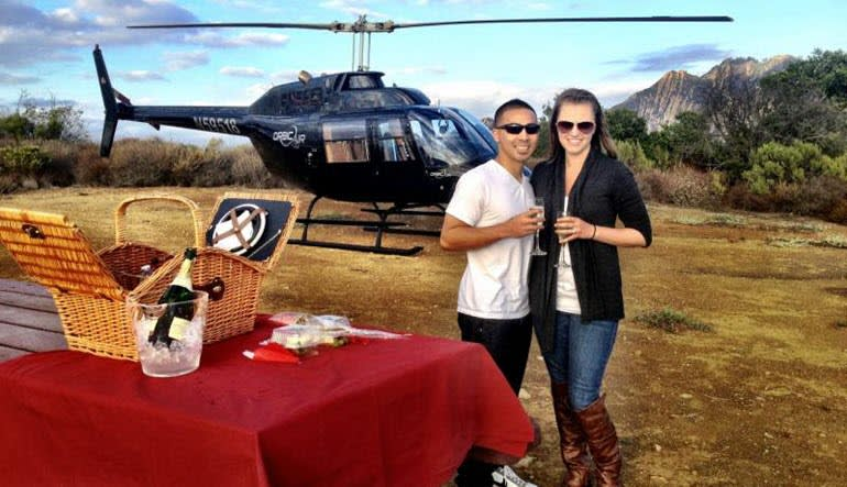 Private Helicopter Ride Los Angeles Couple