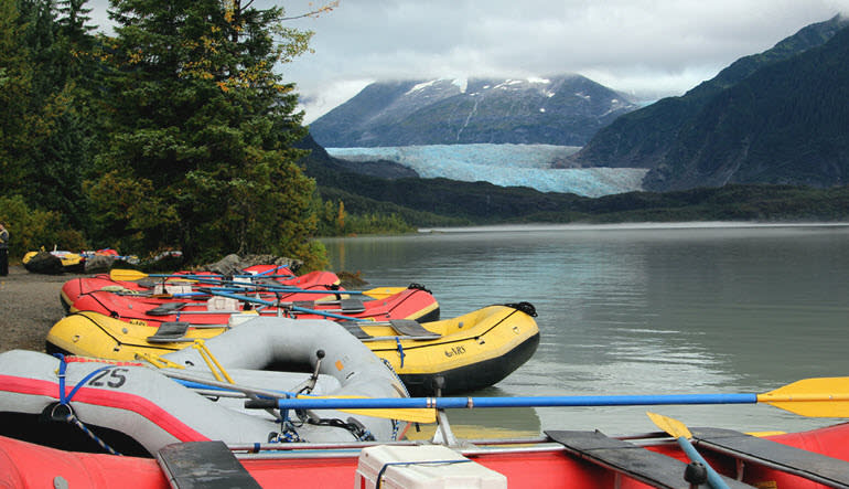 Juneau Rafting Tour Mendenhall Glacier Rafts