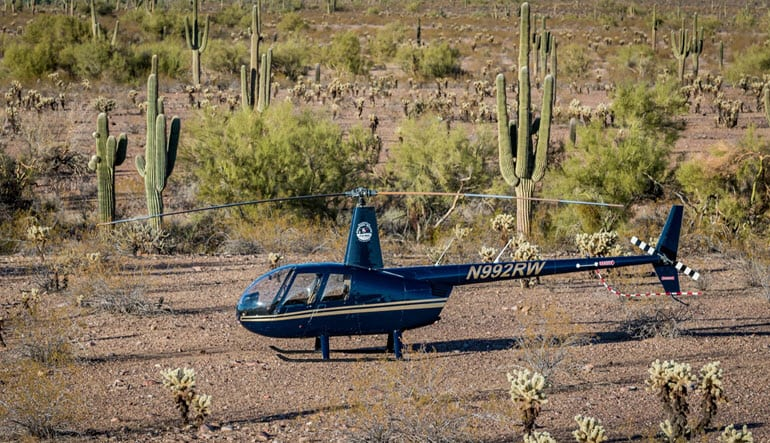 Helicopter Ride Phoenix Desert Mountains Cactus