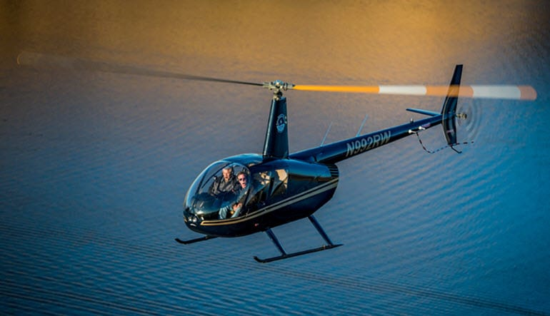Helicopter Ride Phoenix Saguaro Mountain Lake