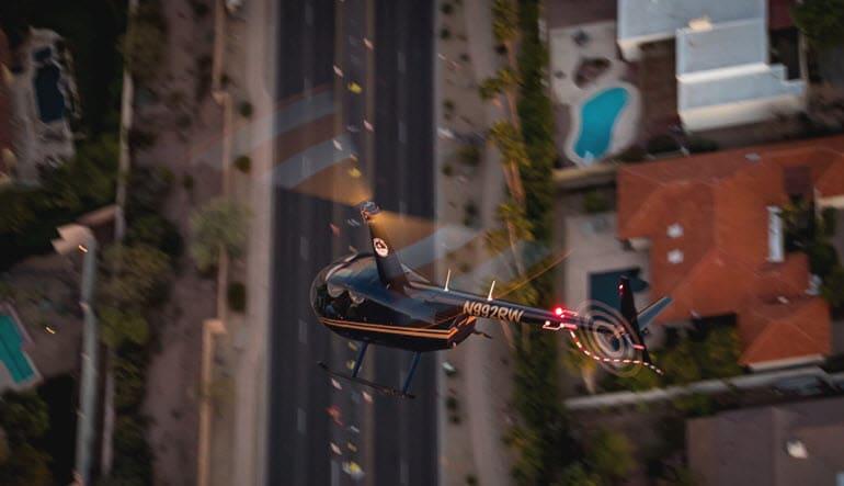 Helicopter Ride Phoenix Overhead