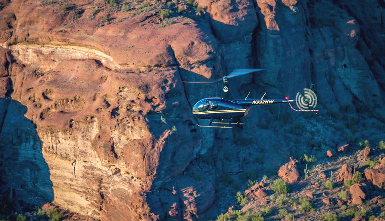 Helicopter Ride Mesa Superstition Mountain Tour
