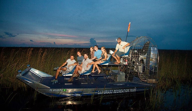 Everglades Airboat Tour Dusk