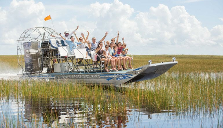 Everglades Airboat Tour Group