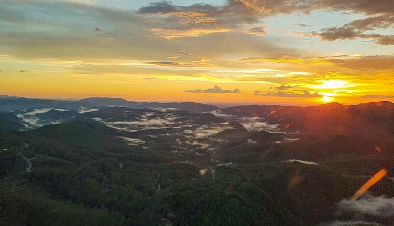 Helicopter Ride Smoky Mountains Sunset