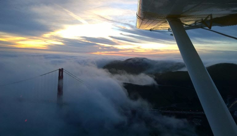 San Francisco Seaplane Ride Sunset Champagne Tour