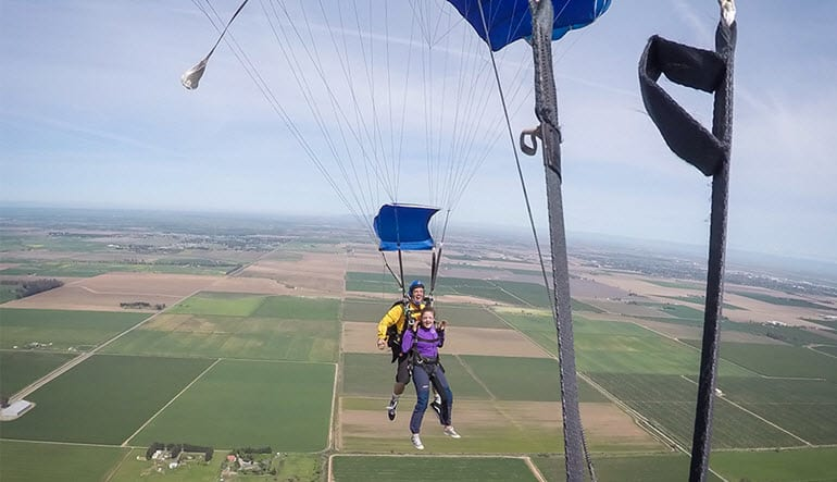 Skydive Sacramento Floating Down