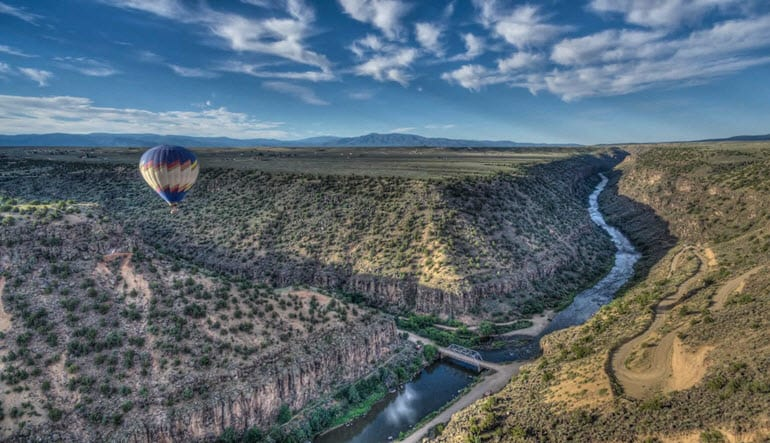 Hot Air Balloon Ride Taos Landscape