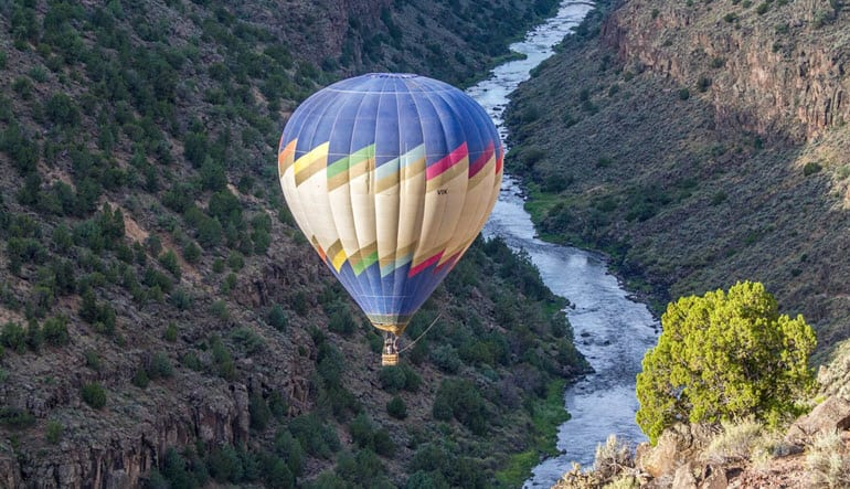 Hot Air Balloon Ride Taos River