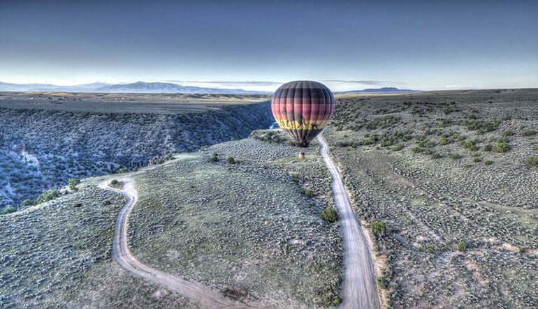 Hot Air Balloon Ride Taos Trail