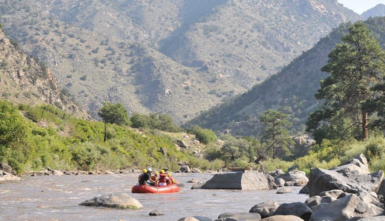 Whitewater Rafting Royal Gorge Upstream