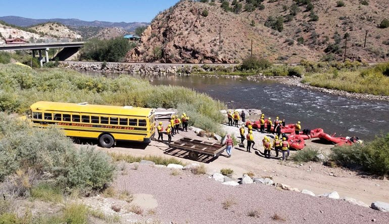 Whitewater Rafting Royal Gorge Bus Load