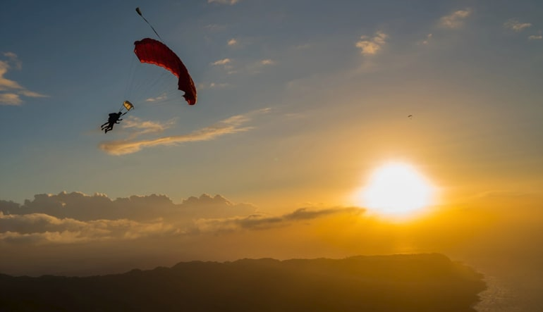 Oahu Skydiving Sunset