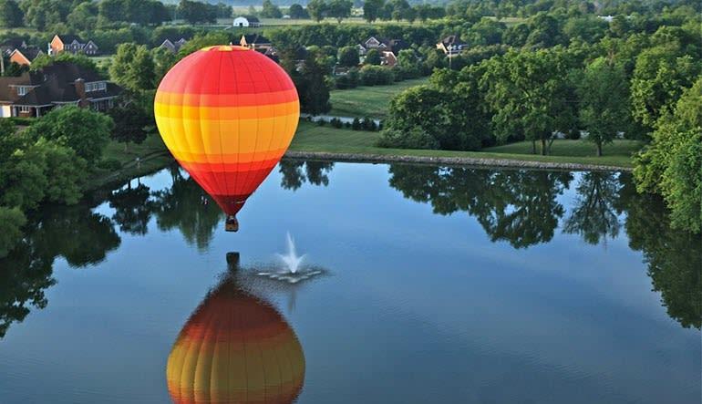 Hot Air Balloon Ride Nashville Reflection