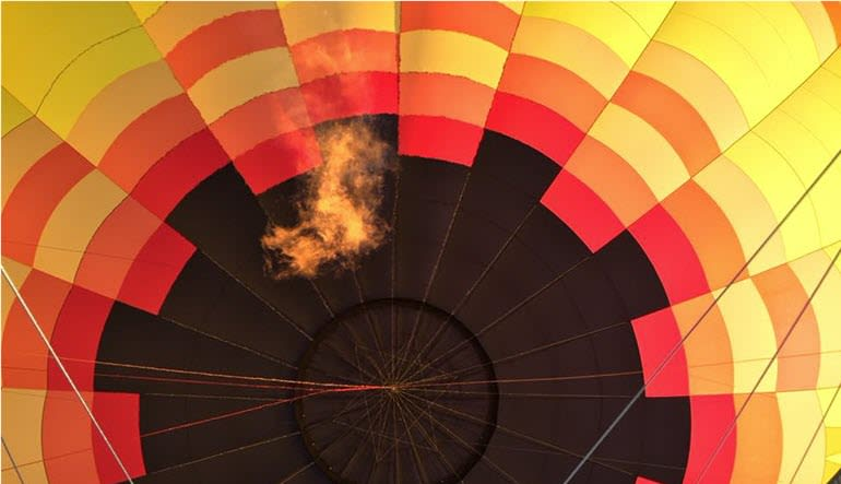 Hot Air Balloon Ride Nashville Flame