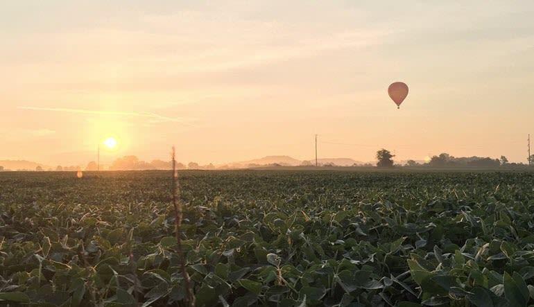 Hot Air Balloon Ride Nashville Sunset