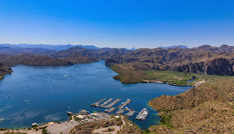 Helicopter Tour Phoenix Fountain Hills Lake