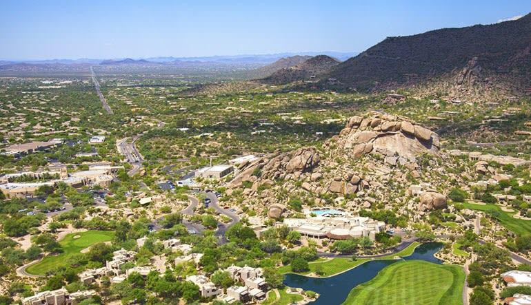 Helicopter Tour Phoenix Paradise Valley Landscape