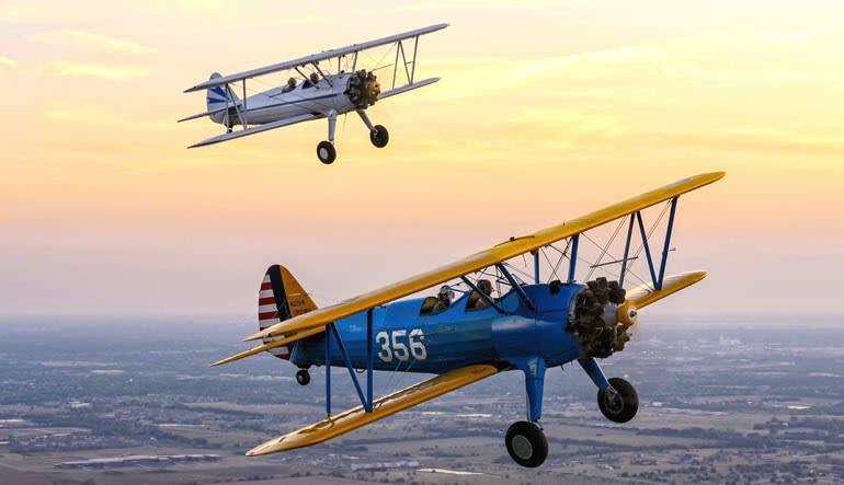 Biplane Aerobatic Flight Warrenton Sunset