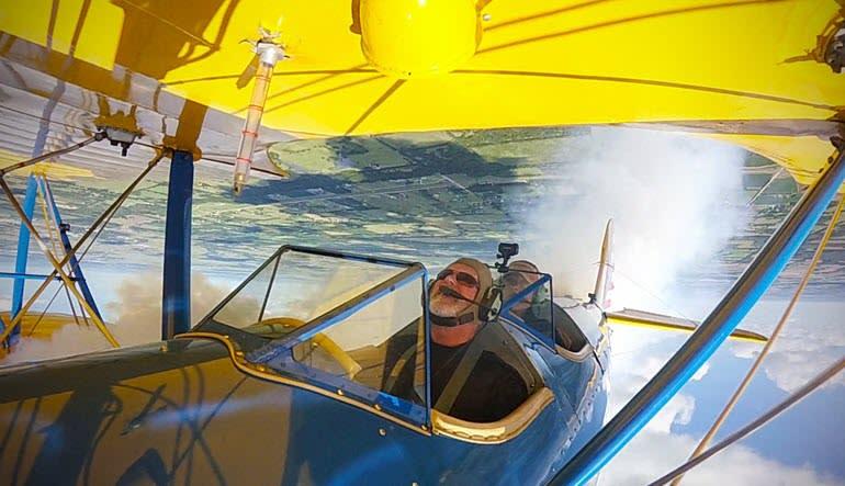 Biplane Aerobatic Flight Warrenton Flip