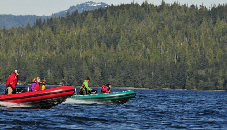 Zodiac Boat Scenic Tour Ketchikan Lake